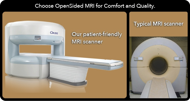 Comparison Model between OpenSided MRI Scanner vs the Typical Closed MRI Scanner
